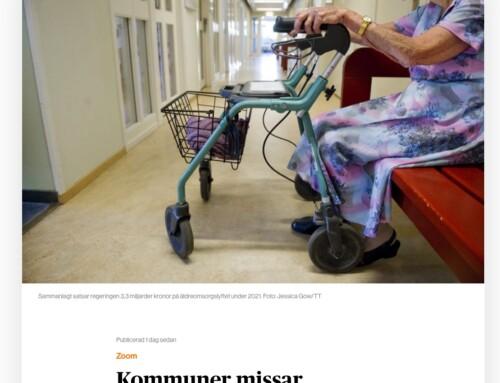 I media: Kommuner missar äldreomsorgslyft för NGL-ungdomar